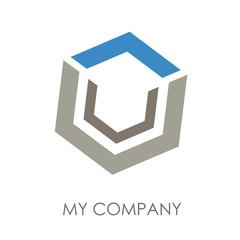 Logo abstract cube # Vector