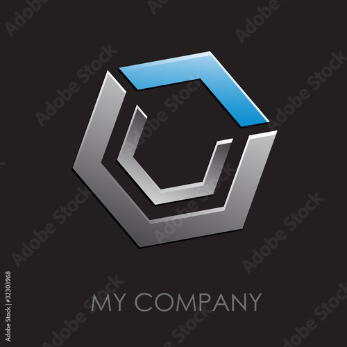 Logo abstract cube # Vector