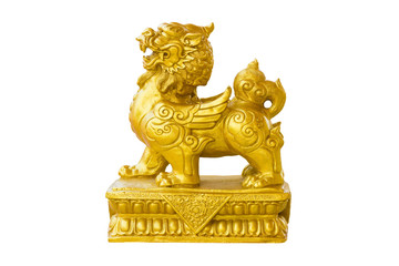 Figure Sculpture Decorative Lion Chinese
