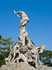 Five-Goat Statue