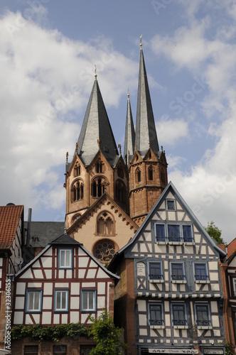 Fachwerkhäuser und Marienkirche in Gelnhausen