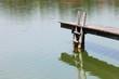 Holzsteg im See