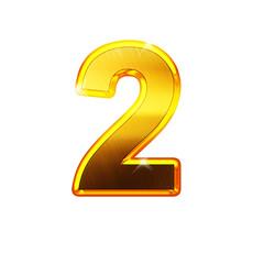 2 - deux- chiffre en OR