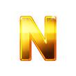 N - Alphabet en lettres dorées