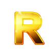 R - Alphabet en lettres dorées