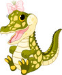 Baby girl crocodile