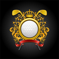 Сoat of arms. Golf symbol
