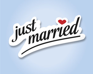 just married Text