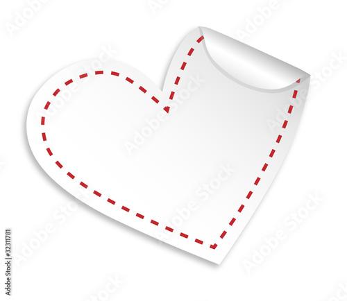 sticker herz blanco als sticker drucken und berechnen 32311781. Black Bedroom Furniture Sets. Home Design Ideas
