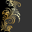 Elegant golden floral background. Vector illustration EPS8
