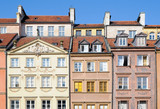 tenement houses on Old Town in Warsaw, Poland poster