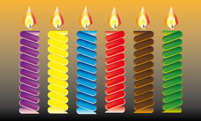 Birthday candles, candles and streamer. Place on your cake.