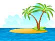 Einsame Insel im Meer