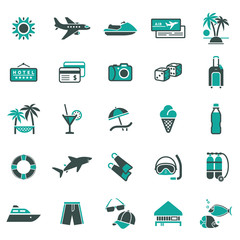 Signs. Vacation, Travel & Recreation. First set icons