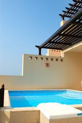 The swiming pool at luxury villa, Dubai, UAE