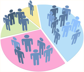 People statistics population data pie chart