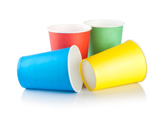 Disposable cups isolated