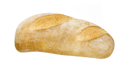 appetizing freshly baked italian bread, isolated