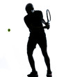 man tennis player backhand