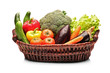 View of a basket full with vegetables