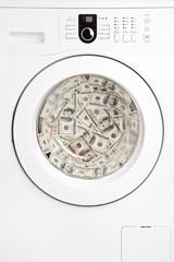 Money laundry concept