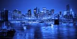 Brooklyn bridge in NYC at night