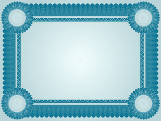 Vector illustration of high detailed diploma certficate