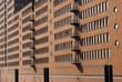 Modern brick wall facade