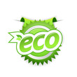 Green ecology badge. Vector art