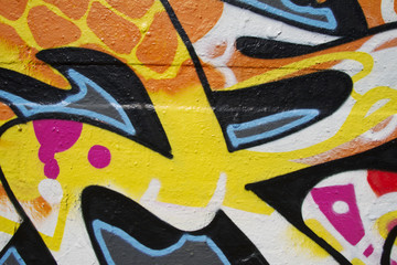Grafitti detail yellow