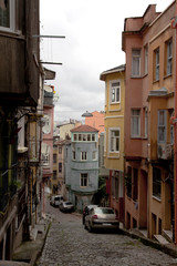 traditional streetview at Istanbul Turkey