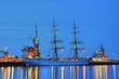 Segelschiff in Kiel