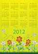 2012 calendar - week starts on Sunday