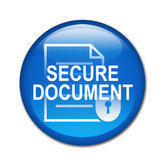 Boton brillante SECURE DOCUMENT