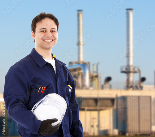 Smiling engineer