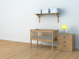 Fototapety bed room baby