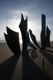 Ombres sculpture à Omaha Beach - Saint-Laurent-Sur-Mer poster