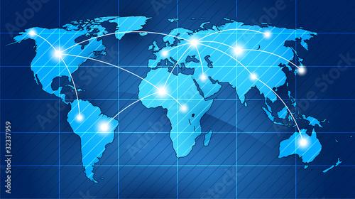 Staande foto Wereldkaart world traffic