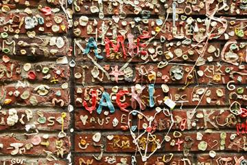 Bubble Gum Graffiti On Wall