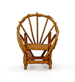Fan Back Wicker Chair