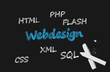 webdesign chalkboard