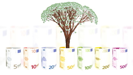 Euro currency spinning and EUR tree