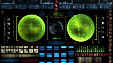 Panel de control radar