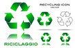 Set Recycling icon, vector