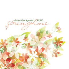 springtime - abstract flower background, EPS10