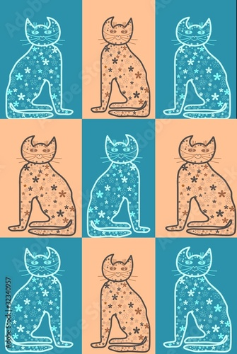 Bastet  Mythologie  Cats in pastel colors Serie
