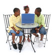 Children Sharing Laptop