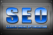 SEO Searchengineoptimization metal blue