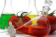 chemielabor mit tomate