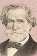 Verdi on 1000 Lire 1977 banknote from Italy